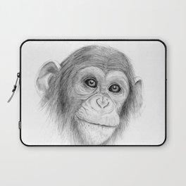 A Chimpanzee :: Not Monkeying Around Laptop Sleeve