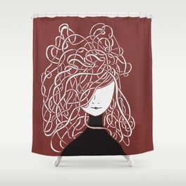 Iconia Girls - Olivia Marsala Shower Curtain