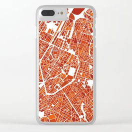 Brussels City Map III Clear iPhone Case