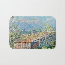 """Claude Monet """"Gardener's House at Antibes"""", 1888 Bath Mat"""