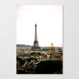 Paris from the Roof Canvas Print