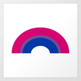 Bisexual Rainbow Art Print