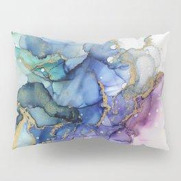 Moody Mermaid Bubbles Abstract Ink Pillow Sham