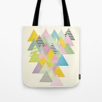 french Tote Bags featuring French Alps by Cassia Beck