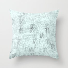 abstract blue and grey grunge background Throw Pillow