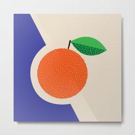 Fruitbowl, Orange Metal Print