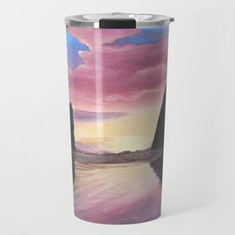 Pink Clouds at Haystack Rock Travel Mug