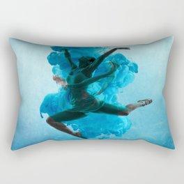 Ballet Dancer in Deep Sea. Rectangular Pillow