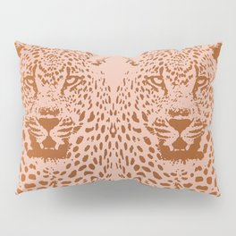 Sunset Blvd Leopard - blush pink and coral original print by Kristen Baker Pillow Sham