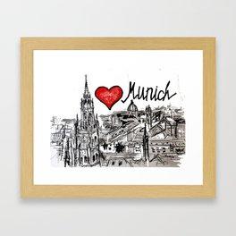 I love Munich Framed Art Print