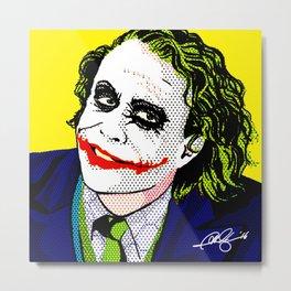 Pop Joker: Ledger Metal Print