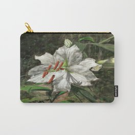 White Asiatic Lily Carry-All Pouch