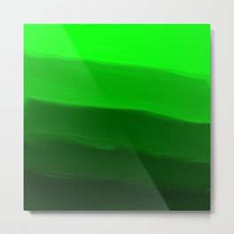 Ombre in Green Metal Print
