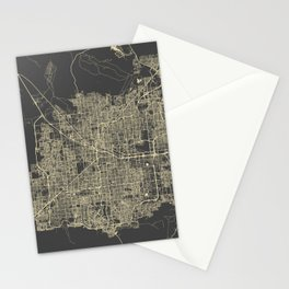 Las Vegas Map #1 Stationery Cards