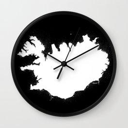 Iceland W&B Wall Clock