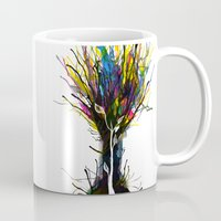 creativity Mugs featuring Creativity by Tobe Fonseca