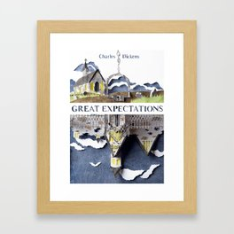 Great Expectations Book Cover Framed Art Print