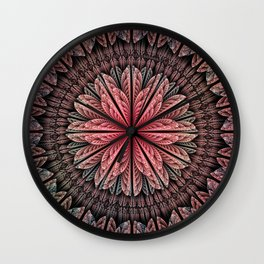 Fantasy flower and petals Wall Clock