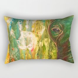 Elephant Painting Rectangular Pillow