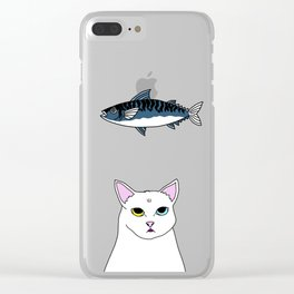 Fat D. Loves Fish Clear iPhone Case
