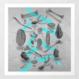 Sinister bones&rocks Art Print