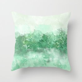 Choppy Turquoise Ocean Water Throw Pillow