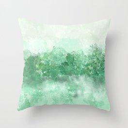 Choppy Turquoise Ocean Water Throw Pillow