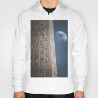 egyptian Hoodies featuring Egyptian Moon by Vin Zzep