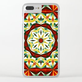 Winter cheer, abstract pattern design Clear iPhone Case