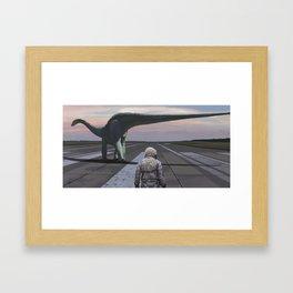 Diplodocus Framed Art Print