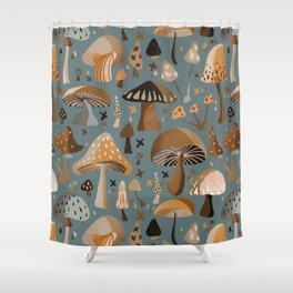 Mushroom Collection – Neutral Palette Shower Curtain