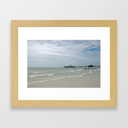 Fort Myers Pier Framed Art Print