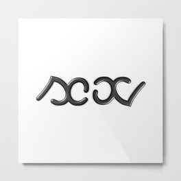 SEX ambigram Metal Print