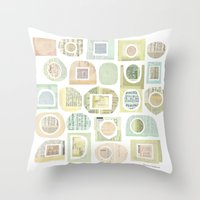 frames Throw Pillows featuring Frames by maria carluccio