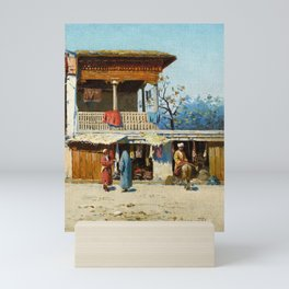Richard Karlovich Zommer (Munich 1866 - Russia 1939), Street Traders in Samarkand - Mini Art Print