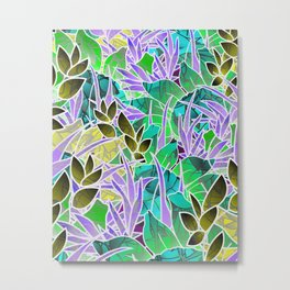 Floral Abstract Artwork G127 Metal Print