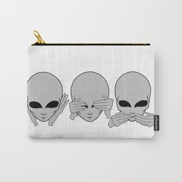 don't hear, see, talk. alien Carry-All Pouch