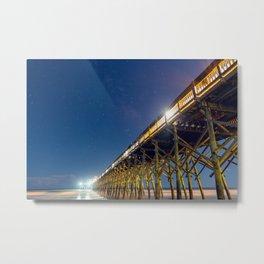 Star Studded Pier Metal Print