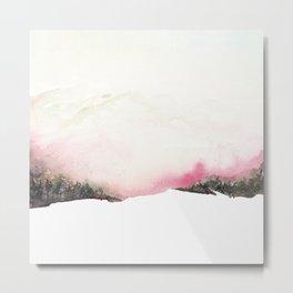 Fading mountains Metal Print