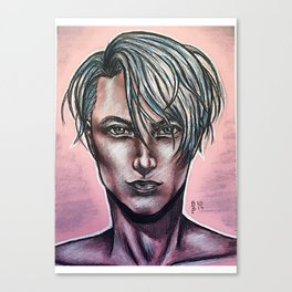 Realistic Viktor Nikiforov Canvas Print
