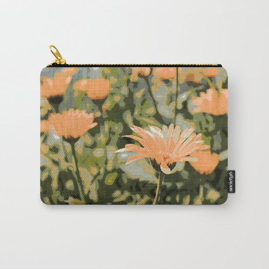 Early Evening Flower Garden Carry-All Pouch