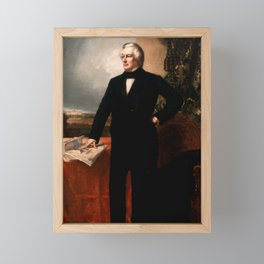 President Millard Fillmore Portrait Framed Mini Art Print