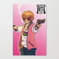 iwatobi Canvas Prints featuring Straight Outta Iwatobi by Jessi C