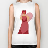 moulin rouge Biker Tanks featuring Rouge by KH Illustrations