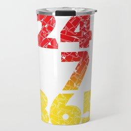 24-7/365 (Red hustle) Travel Mug