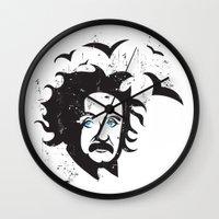 einstein Wall Clocks featuring Einstein by KaytiDesigns