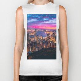 Sunset City (Color) Biker Tank