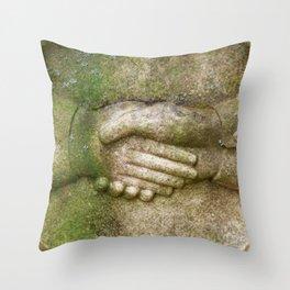 Tombstone Handshake Throw Pillow