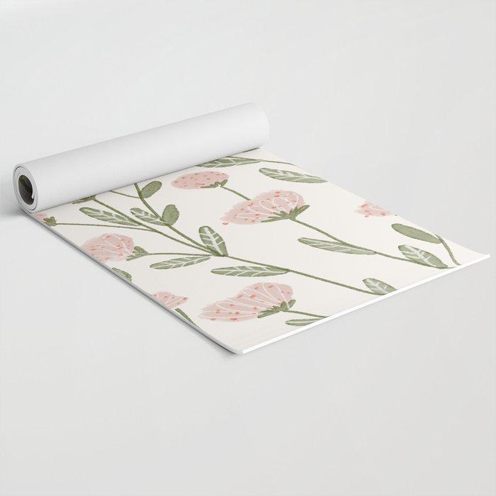 Rose Garden Pattern Yoga Mat
