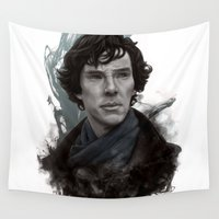 sherlock Wall Tapestries featuring Sherlock by F3NR1R